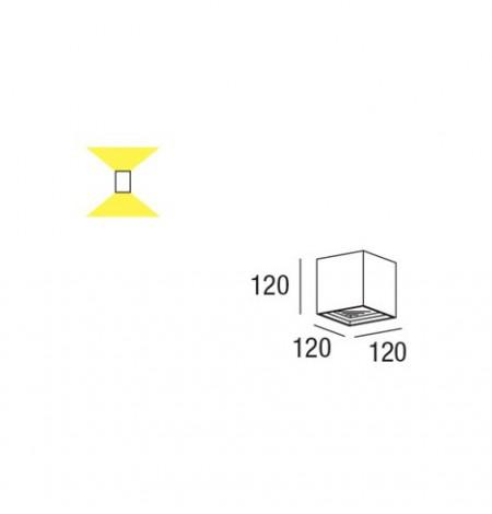 cubo applique led misure