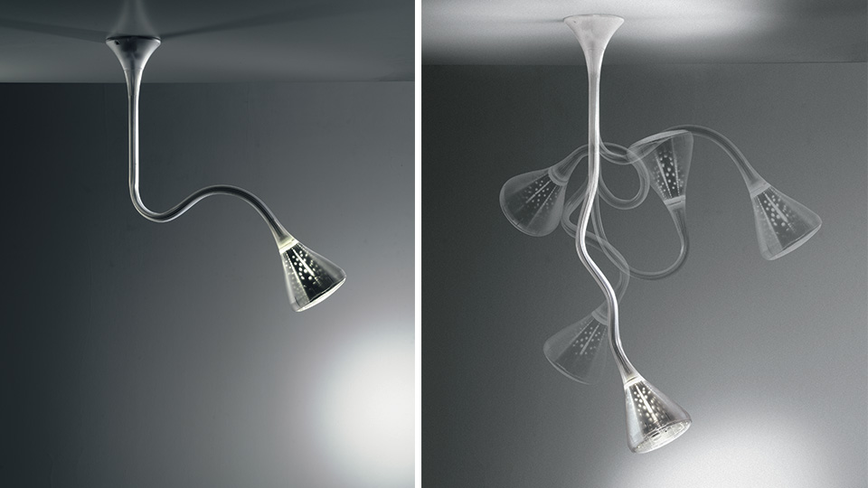 Pipe sospensione led artemide illuminazione roma tulli for Artemide lampade roma