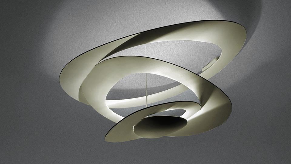 Pirce mini soffitto led gold artemide illuminazione roma for Artemide lampade roma
