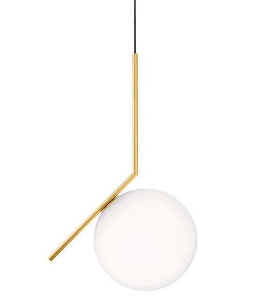 Ic s2 sospensione oro flos illuminazione roma tulli luce for Sospensione flos